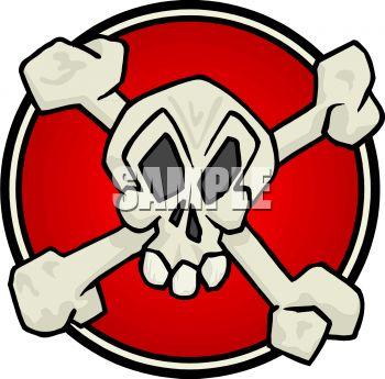 350x345 Royalty Free Clipart Image Skull And Crossbones Symbol
