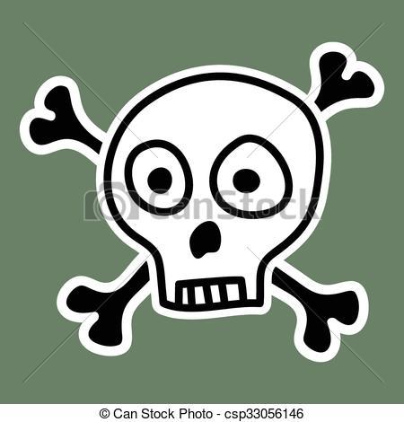 450x470 Skull And Bones.vector Illustration. Eps Vector