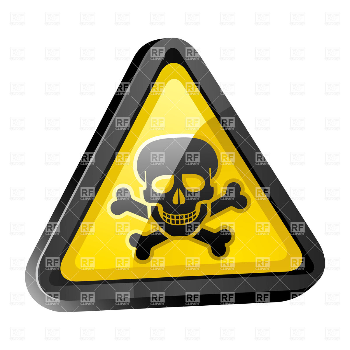 1200x1200 Warning Sign With Skull And Crossbones Royalty Free Vector Clip