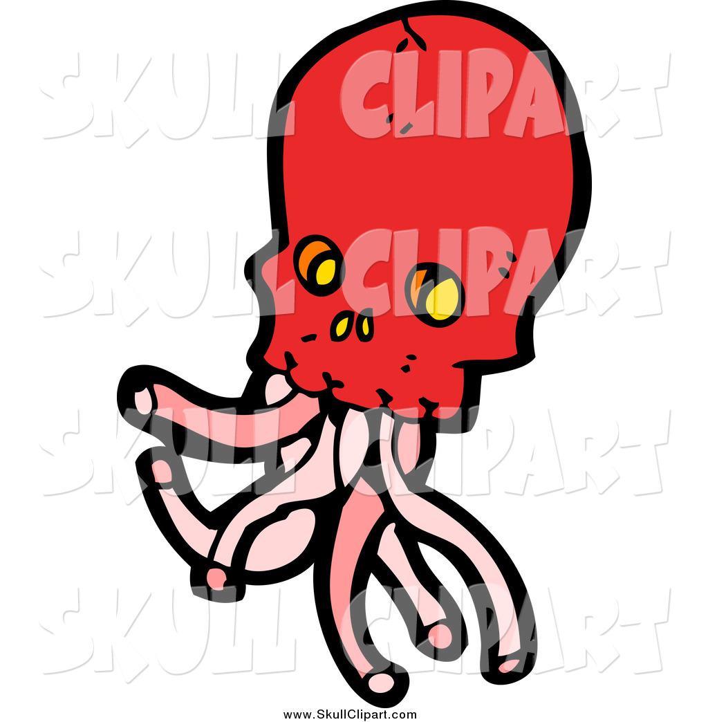 1024x1044 Tentacle Clipart Vector Clip Art Of A Red Skull With Tentacles By