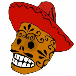 300x300 Mexican Skull Clip Art