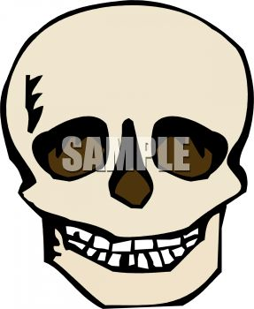 287x350 Royalty Free Clipart Image Scary Skull