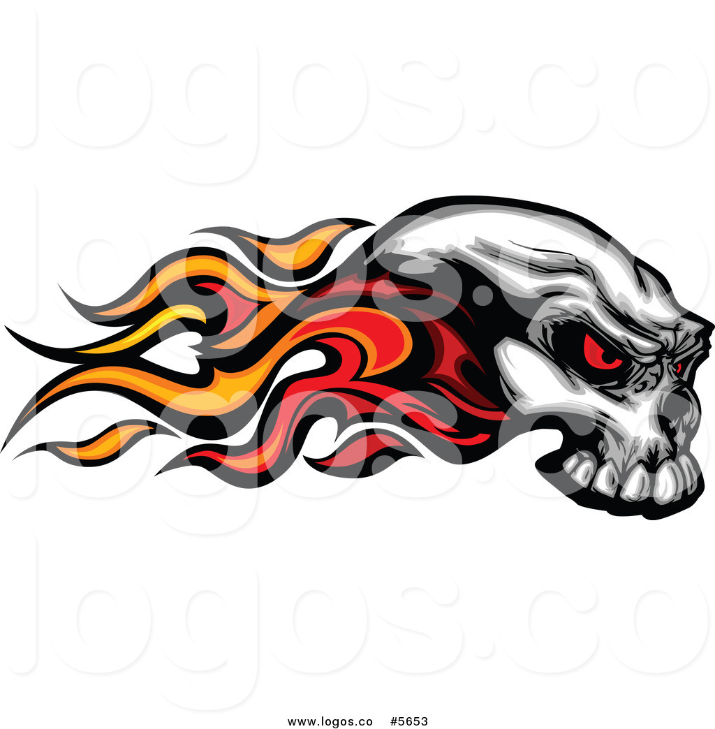 1024x1044 Royalty Free Vector Of A Logo Of A Flaming Red Eyed Skull By