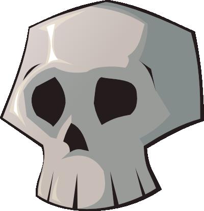 400x413 Pretty Clip Art Skull Free