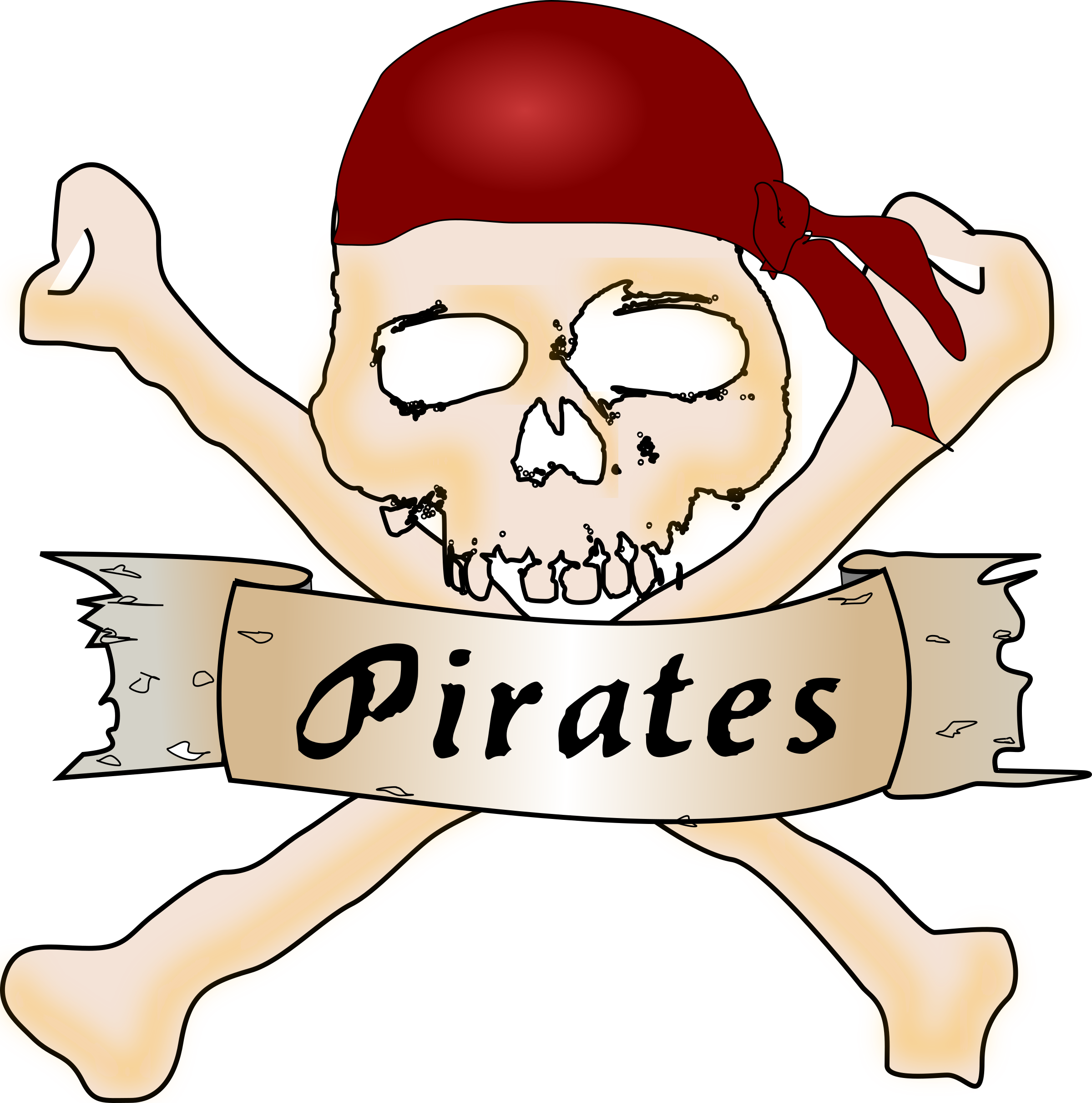 2400x2423 Pirate Clip Art Black And White Free