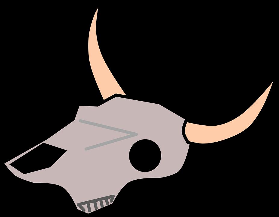 927x720 Clip Art Free Vector Graphic Cow Dead Desert Skull Hehnm5j