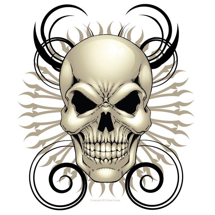 Skull Head Clipart