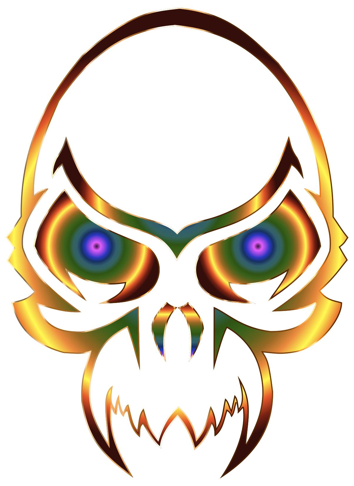 1204x1652 Colorful Skull 2 Clipart