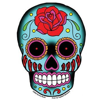 350x350 Skull Clipart Colorful'12054