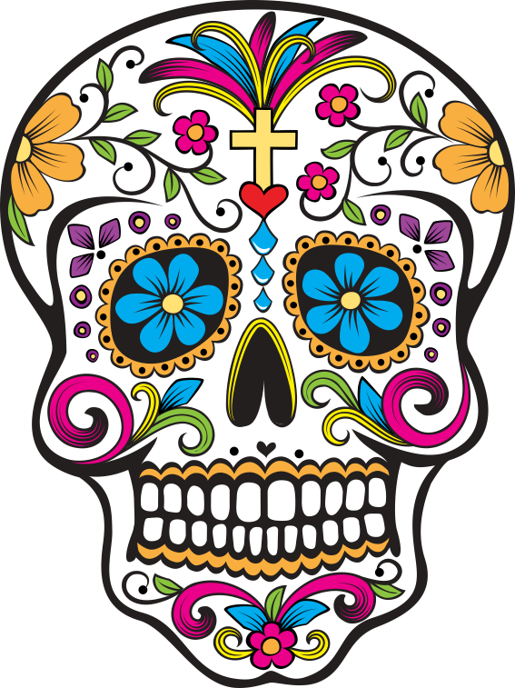 567x757 Estampa Para Camiseta Caveira Mexicana 000099 Sugar Skull