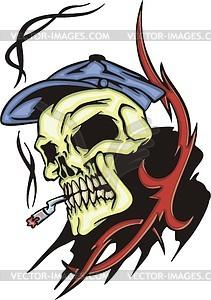211x300 Smoking Skull Tattoo