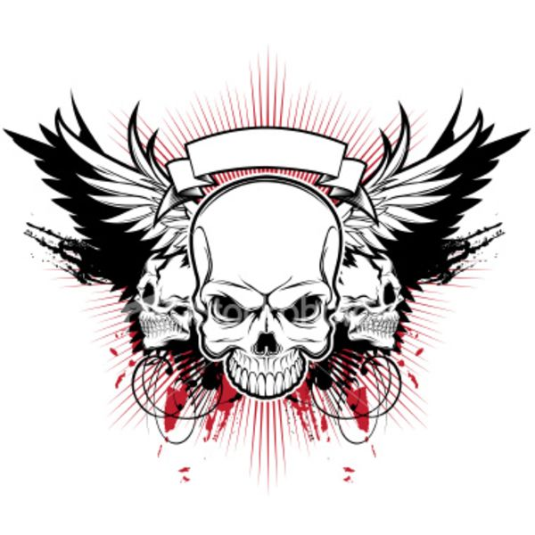 600x600 36 Best Skull With Wings Tattoo Designs Images On Wing