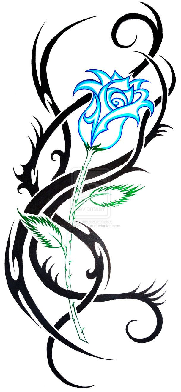 609x1313 Tattoo Clipart Rose
