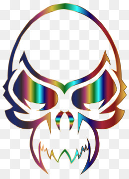 260x360 Wall Decal Sticker Skull
