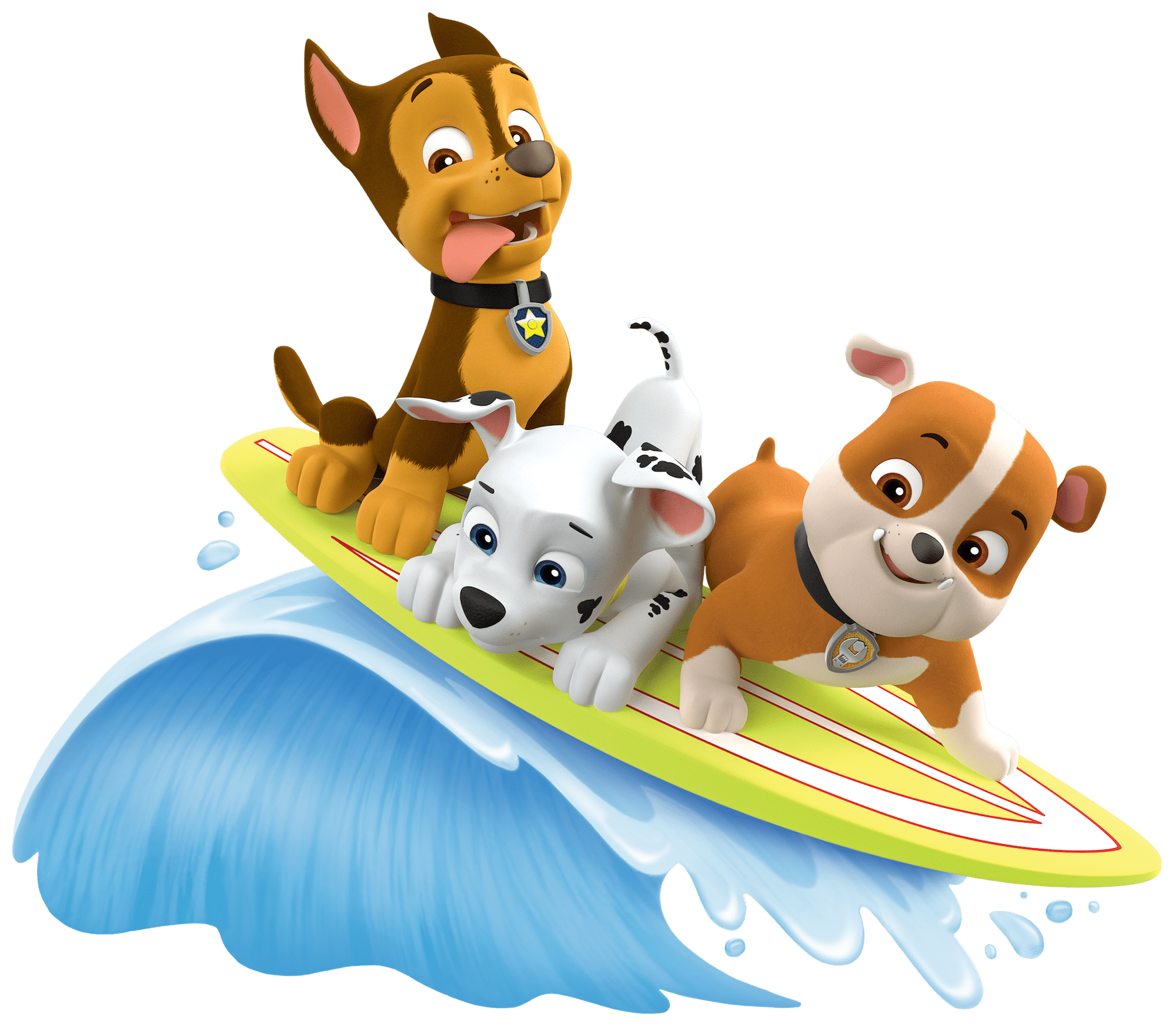 2000x1747 Surf With Rubble Marshall Paw Patrol Clipart Png