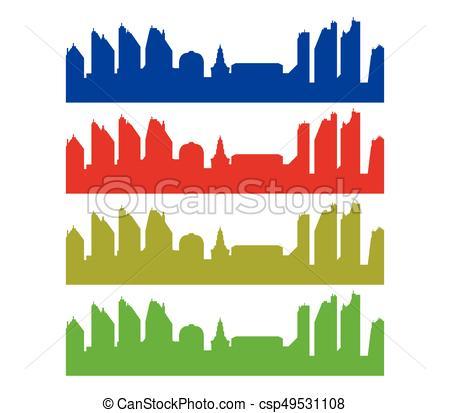 450x413 City Skyline Vector Clipart