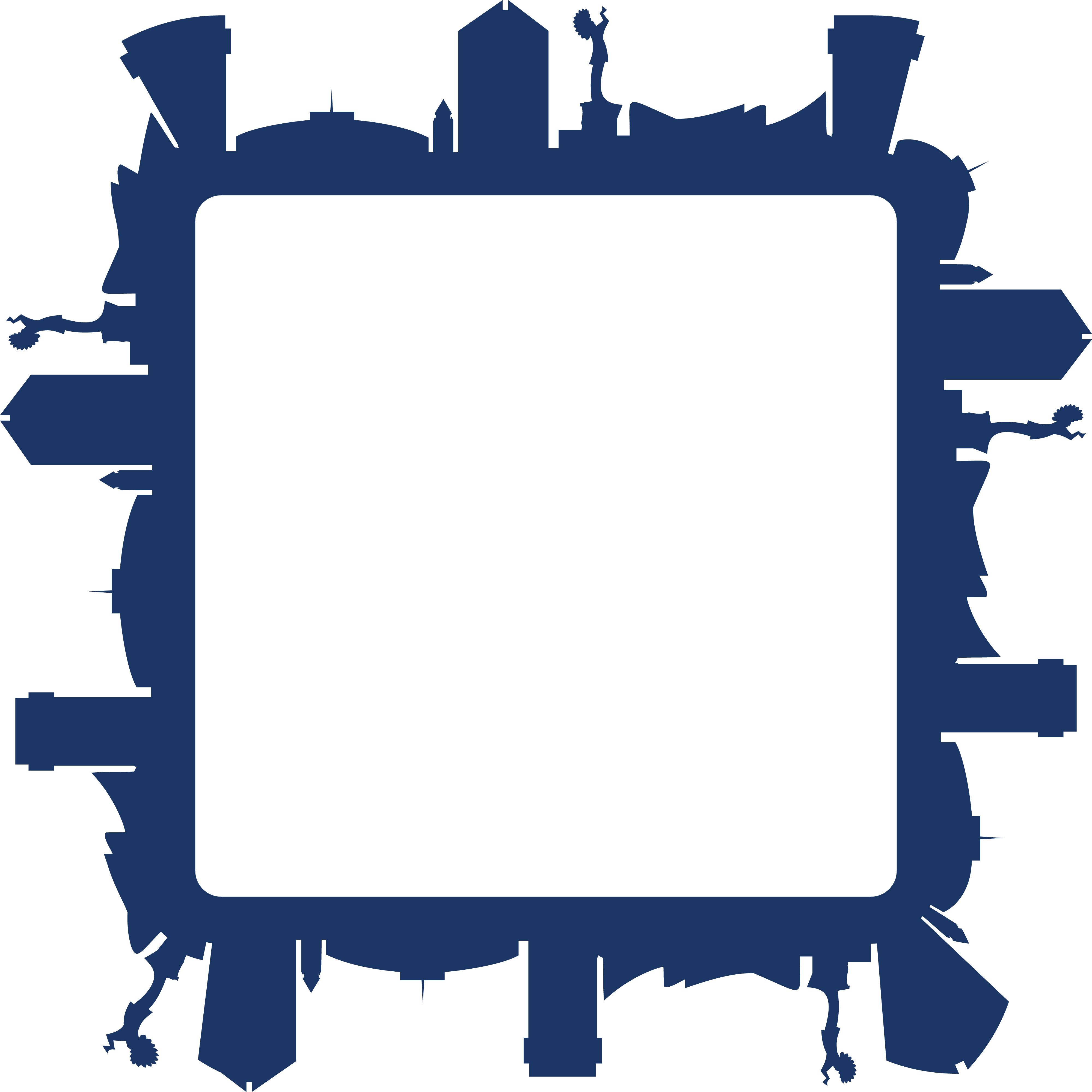 4000x4000 Free Clipart Of A Square Frame Of The Wichita Kansas Skyline