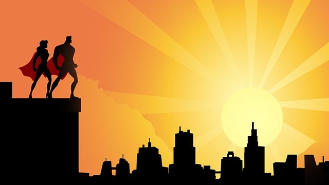 640x360 Gotham City Skyline Clip Art
