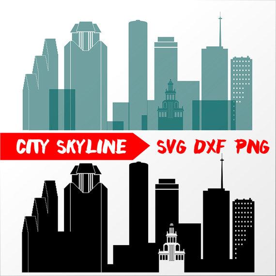 570x570 Houston Vector Skyline, Houston Svg, Silhouette, Svg, Dxf, Eps, Ai