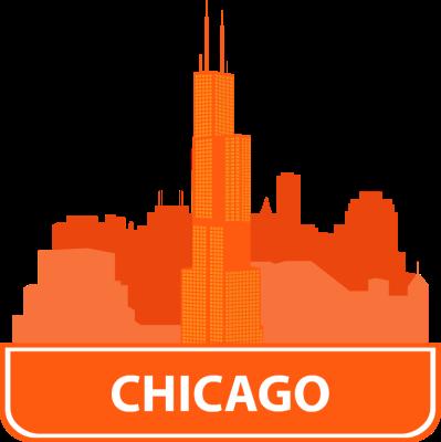 399x400 Fancy Chicago Skyline Clipart