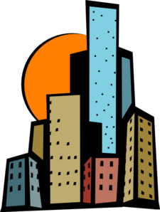 225x298 Skyscrapers In The City Clip Art