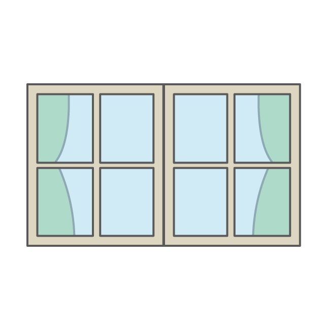 640x640 Window Curtain Free Illustration Distribution Site Clip Art