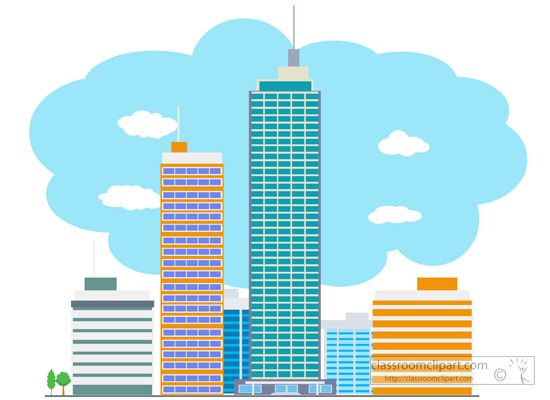 550x400 City Skyscraper Buildings Clipart 134.jpg Clipart