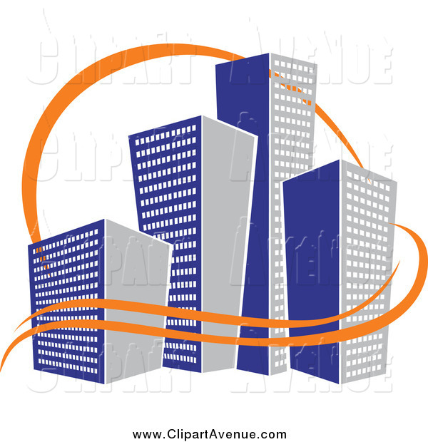 600x620 Avenue Clipart Of A Skyscraper City Design