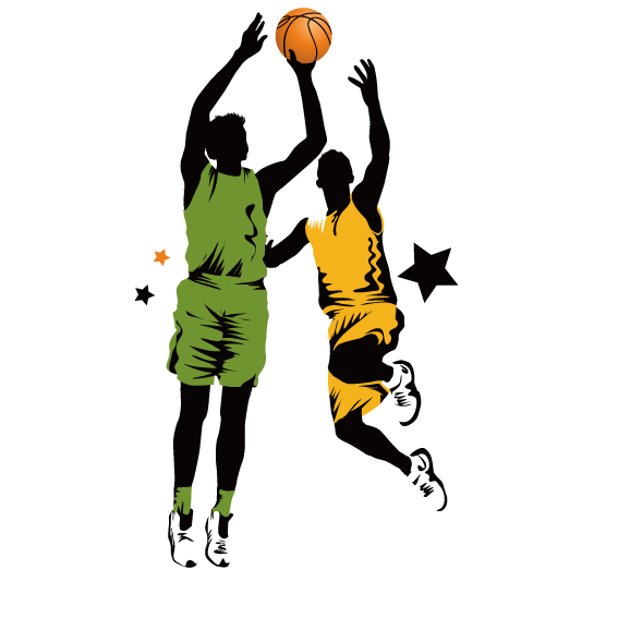 567x567 Basketball Slam Dunk Clip Art