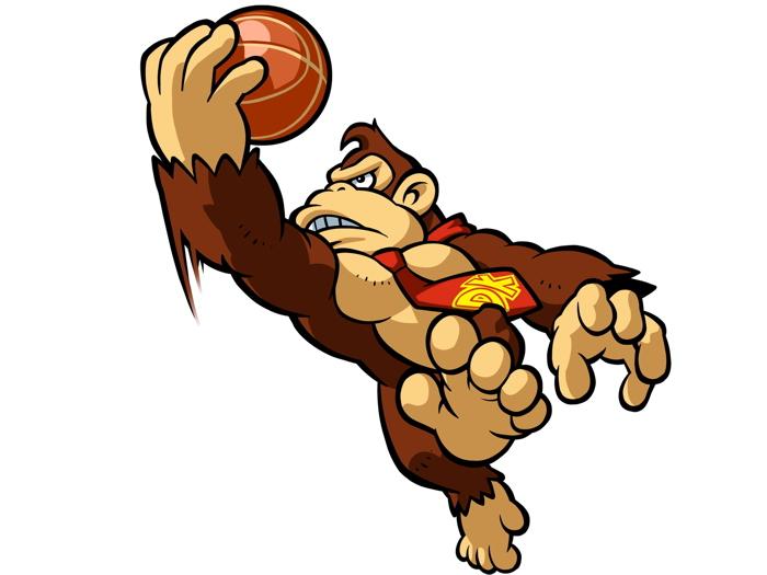 700x525 Donkey Kong Basketball Slam Dunk Art Wall Print Poster Ebay