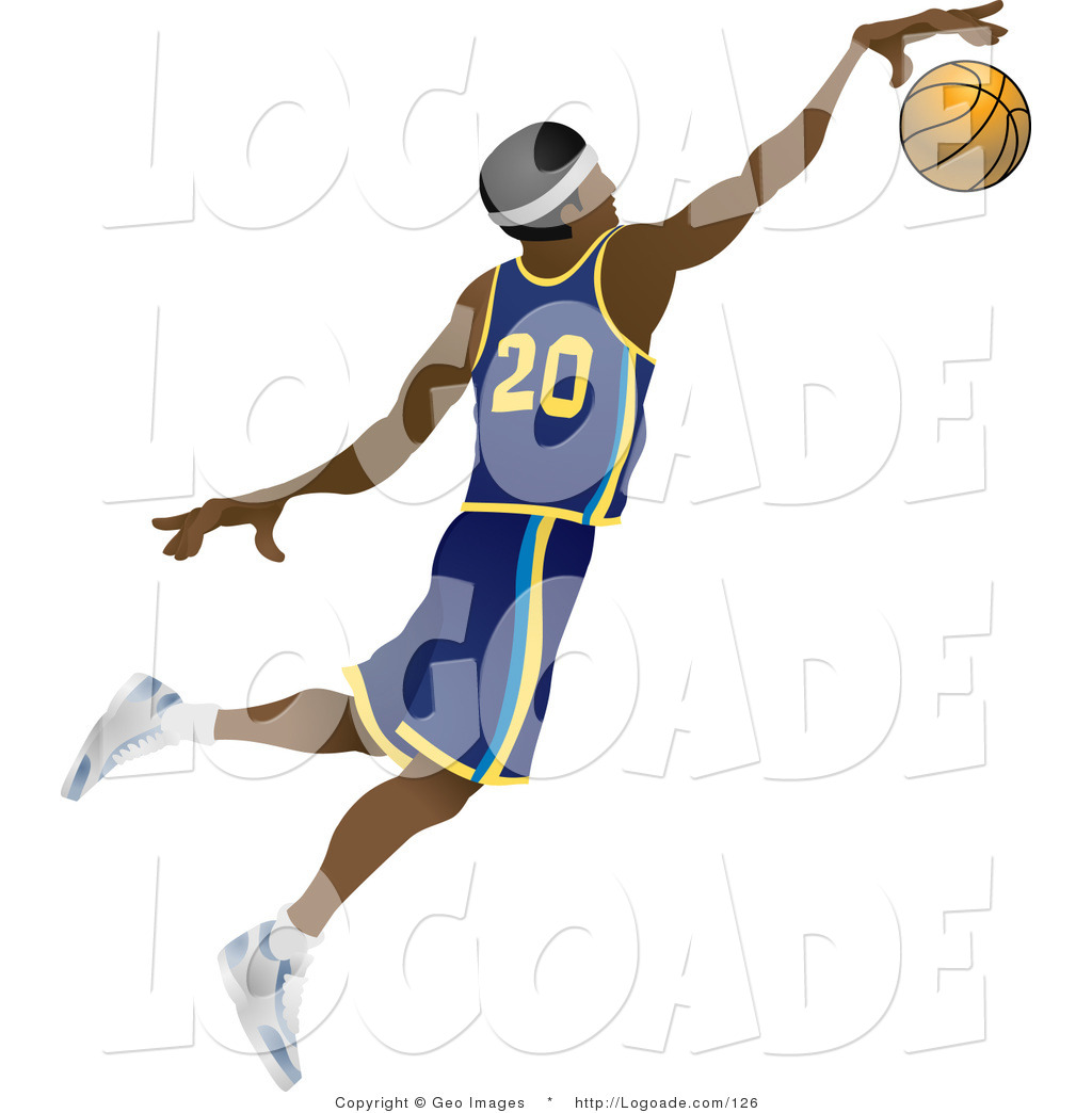 1024x1044 Logo Of A Male African American Basketball Athlete Jumping