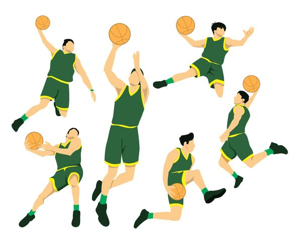 595x490 Slam Dunk Actions Vector