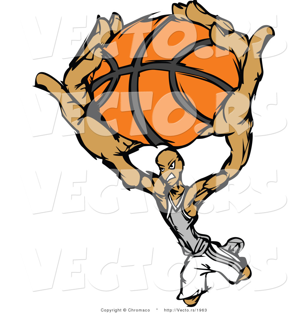 1024x1044 Vector Of A Cartoon Basketball Player Slam Dunk By Chromaco
