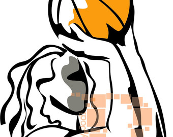 340x270 Basketball Female Slam Dunk Eps Jpeg Png Basketball