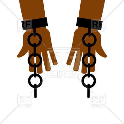 400x400 Emancipation From Slavery Break Free. Chains On Slave Hands