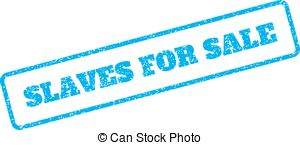 300x145 Slavery Rubber Stamp On White. Print, Impress, Overprint. Clip Art
