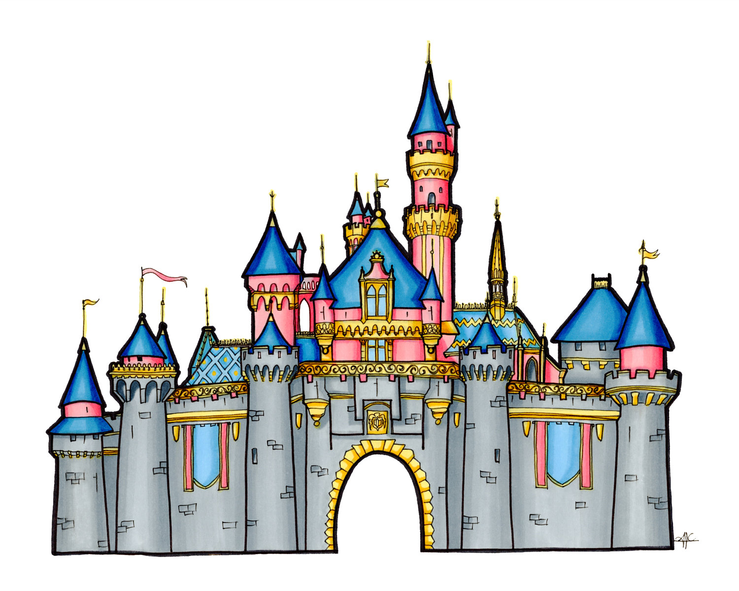 Sleeping Beauty Castle Clipart
