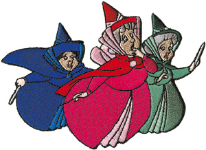 300x218 Walt Disney's Sleeping Beauty Fairy Godmothers Patch Starbase