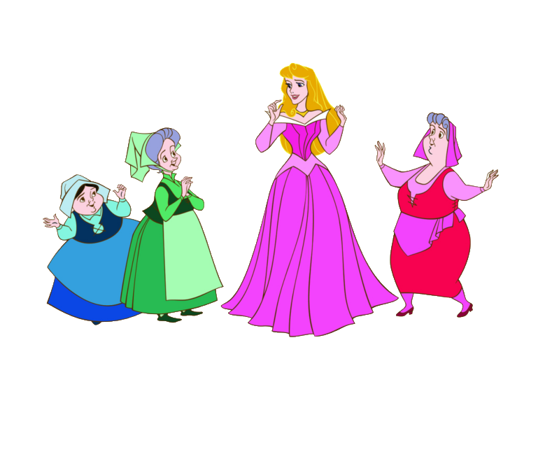 799x666 Disney Fairy Godmothers Sleeping Beauty Png