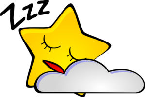 299x201 Sleeping Star Clip Art