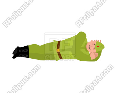 400x319 Soviet Soldier Sleeping Royalty Free Vector Clip Art Image
