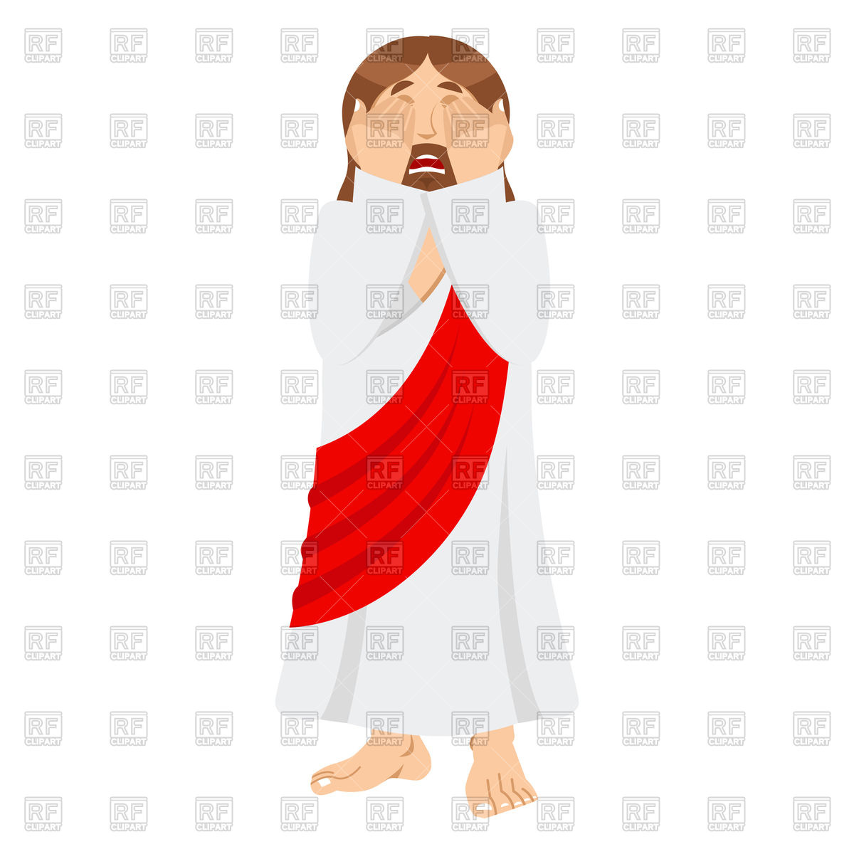 1200x1200 Jesus Facepalm Emotion Royalty Free Vector Clip Art Image
