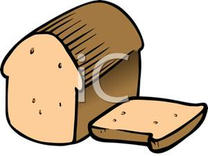 300x225 Clip Art Image A Loaf Of Bread And Bread Slice
