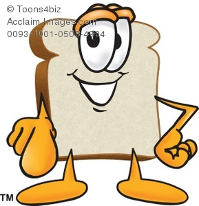 289x300 Clipart Cartoon Bread Slice Pointing