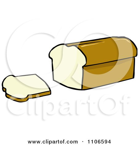 450x470 Clipart Loaf Of Bread And Slice