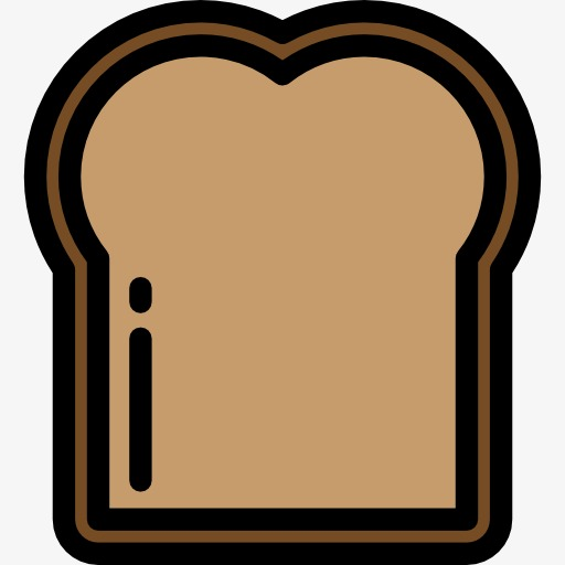 512x512 Slice Of Bread, Bread, Food, Cartoon Png Image And Clipart