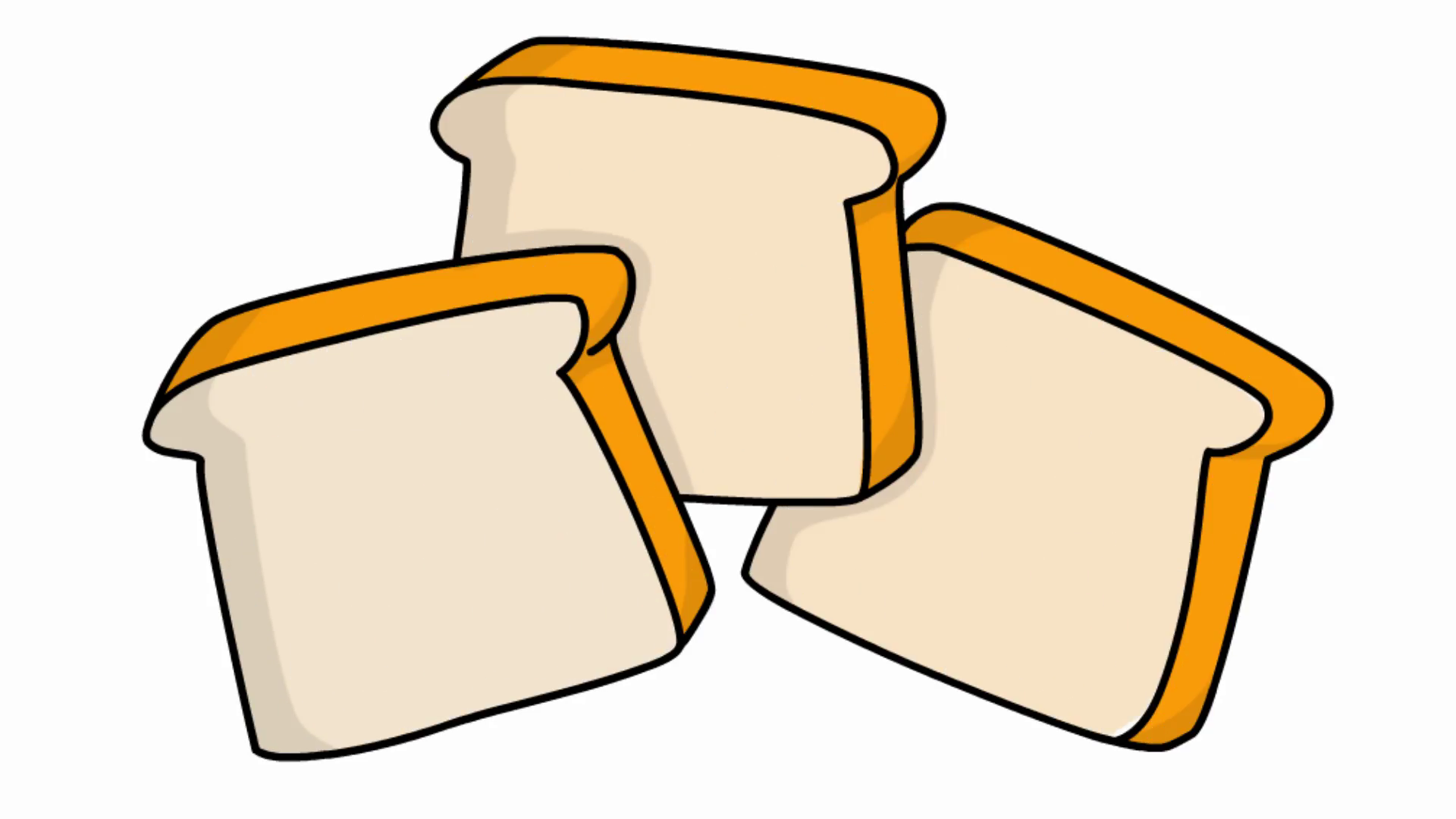 1920x1080 Bread Slice Sketch Illustration Hand Drawn Animation Transparent