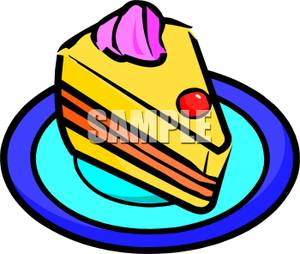 300x254 Clipart Picture A Cake Slice On A Plate