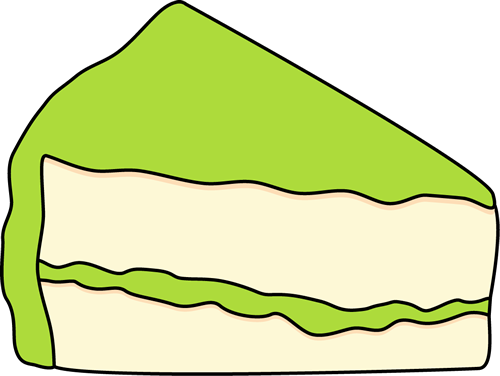 500x376 Slice Of Cake With Green Frosting Clip Art