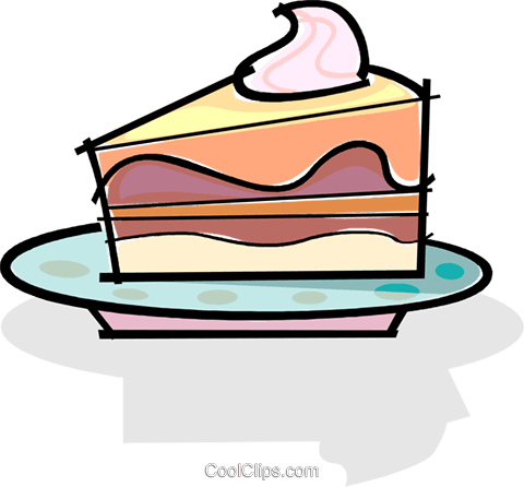 480x446 Slice Of Cake On A Plate Royalty Free Vector Clip Art Illustration
